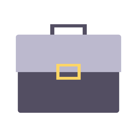 office briefcase accessory on white background vector illustration