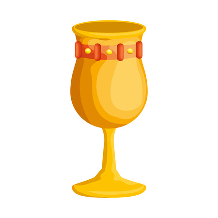 metal wine cup icon vector illustration design Illusztráció