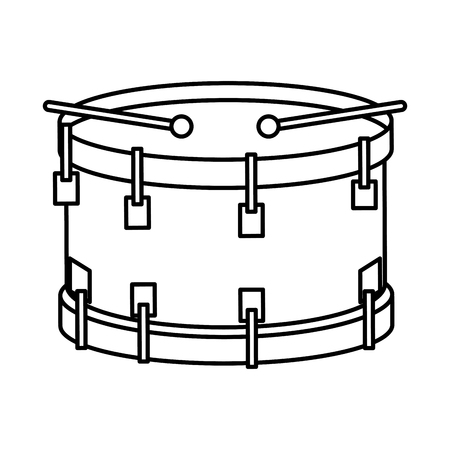 drum musical instrument icon vector illustration design Illusztráció