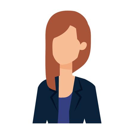 elegant businesswoman avatar character vector illustration design Ilustrace