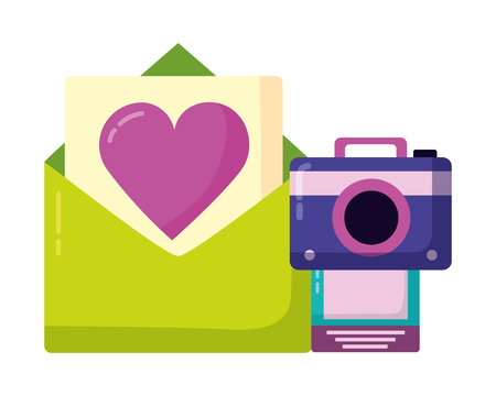 email love photo camera social media digital vector illustration 版權商用圖片 - 123363147