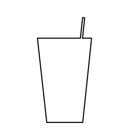 glass drink isolated icon vector illustration design  イラスト・ベクター素材