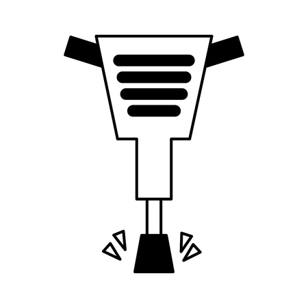 pneumatic hammer tool isolated icon vector illustration design Ilustração