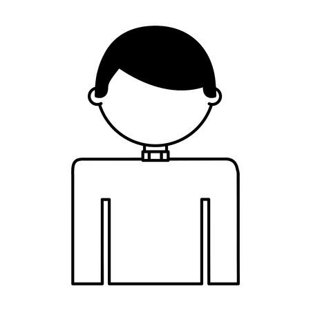 priest man avatar character vector illustration design Ilustracja