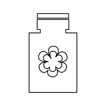 bottle lotion spa isolated icon vector illustration design