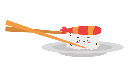sushi and sticks food vector illustration design Stock Illustratie