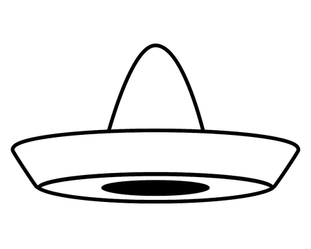 mexican hat traditional icon on white background vector illustration