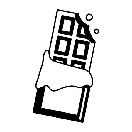 bitten chocolate bar pop art element vector illustration Çizim