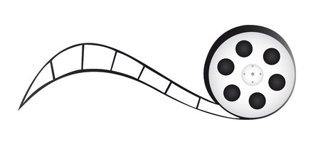 film reel cartoon isolated over white background. vector