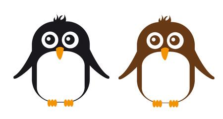 penguin cartoon isolated over white background. vector Illustration