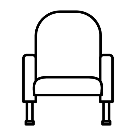 armchair furniture comfort on white background vector illustration