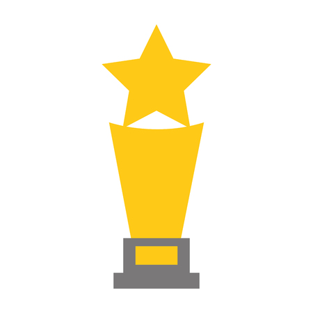 trophy award star on white background vector illustration 일러스트