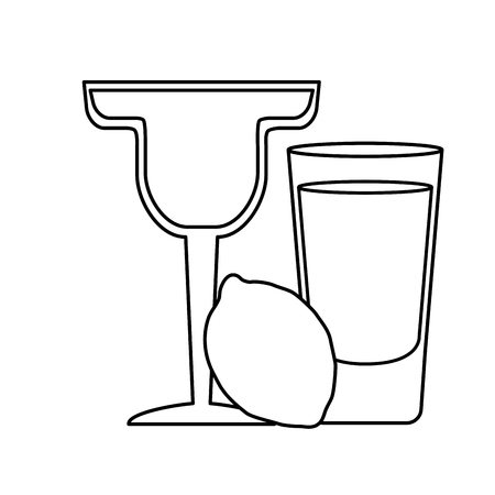 cocktail drink liquor on white background vector illustration Illusztráció