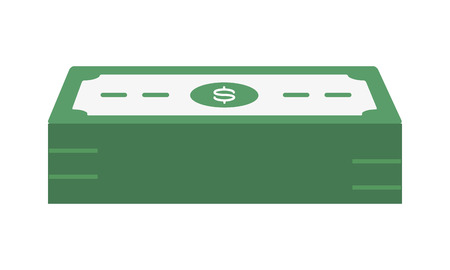 banknotes stacked money cash icon vector illustration Stock Illustratie