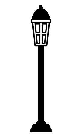 lamp post light on white background vector illustration design vector illustration design  イラスト・ベクター素材