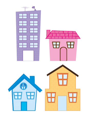 house cartoon isolated over white background. vector Standard-Bild - 123940338