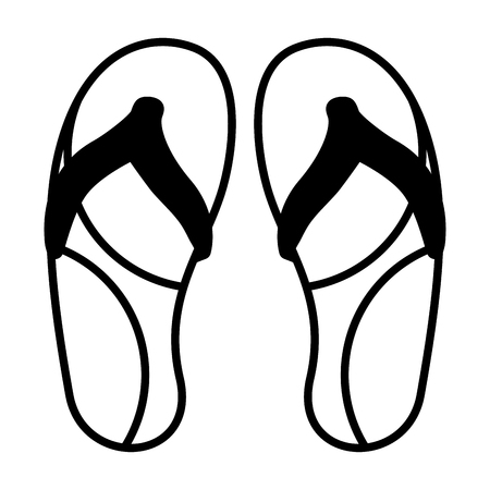 flip flops accessory on white background vector illustration 版權商用圖片 - 123938147