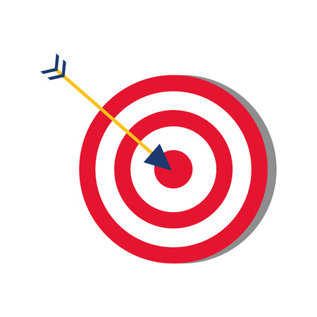 target arrow strategy on white background vector illustration Stock Vector - 124072132