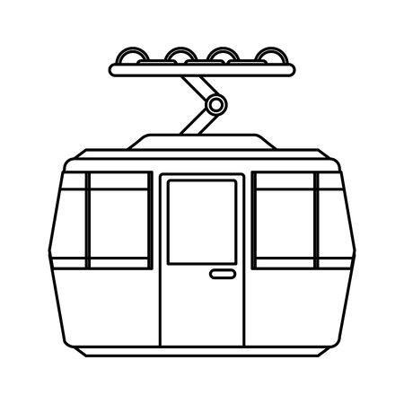 Transporte por cable aislado icono de ilustración vectorial de diseño Ilustración de vector