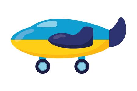 airplane kids toys on white background vector illustration
