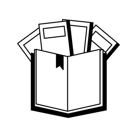open book isolated icon vector illustration design Illustration