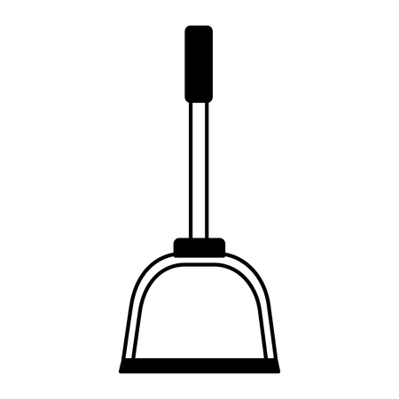 dust pan spring cleaning tools vector illustration Stockfoto - 124105302