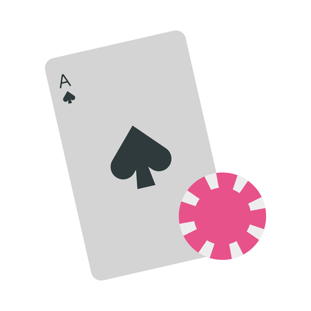 poker cards isolated icon vector illustration design