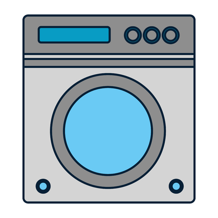 washing machine appliance spring cleaning vector illustration