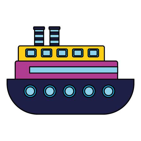 boat kids toy on white background vector illustration Çizim