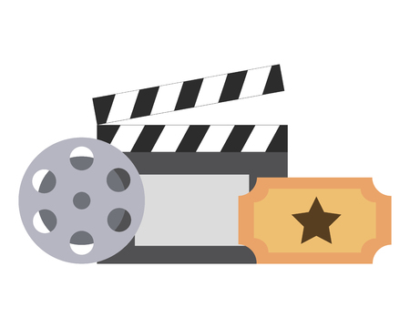 film set objects icon vector illustration design