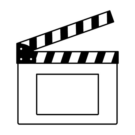 clapboard production cinema movie vector illustration design