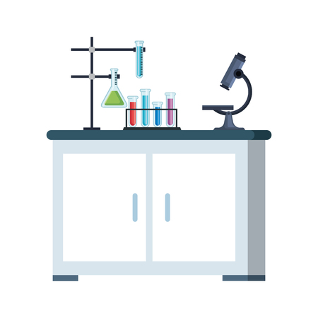 laboratory drawer isolated icon vector illustration design Banque d'images - 124151349