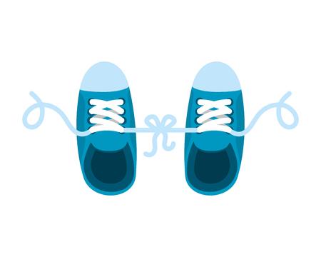 joke with shoes tied vector illustration design Illustration