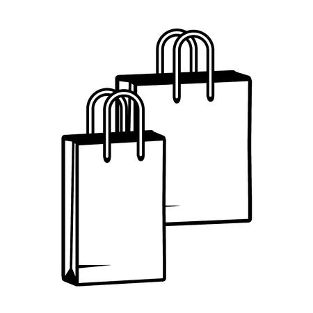 shopping bags commerce pop art vector illustration