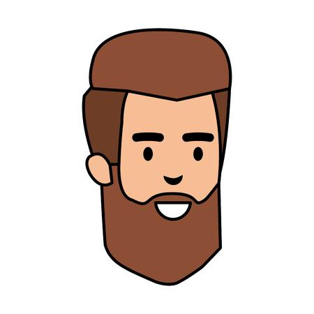 young man head character vector illustration design Vektorové ilustrace