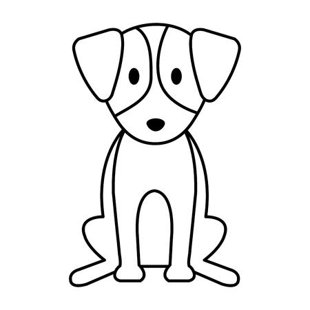 cute dog pet animal vector illustration design Foto de archivo - 124231677