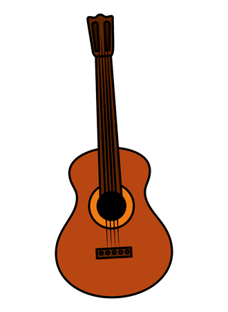 guitar musical instrument icon vector illustration design