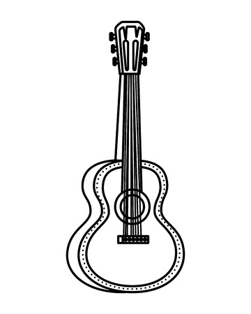 acoustic guitar instrument icon vector illustration design Çizim