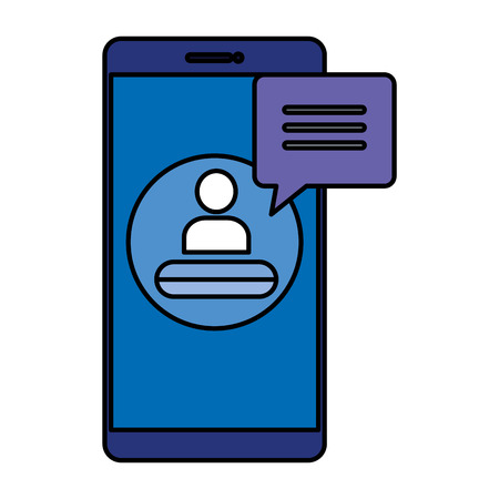 smartphone with user acount vector illustration design