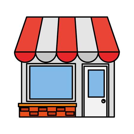 Laden Sie Gebäude Fassade Symbol Vektor Illustration Design