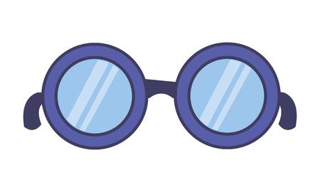 eyeglasses accessory icon on white background vector illustration
