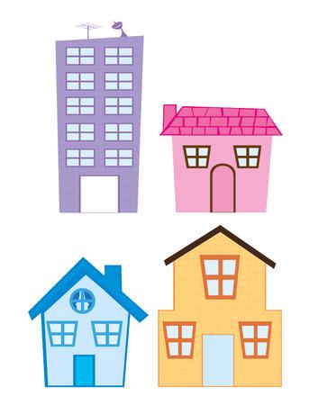 house cartoon isolated over white background. vector Standard-Bild - 124311643