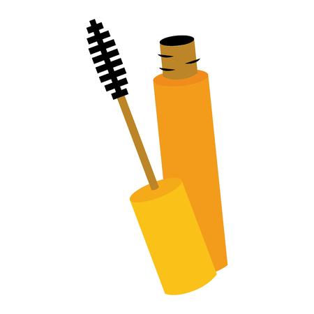 mascara brush female elements icon vector illustration