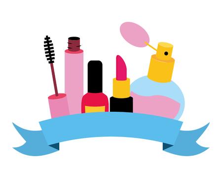 makeup female things pop art elements vector illustration Ilustracja