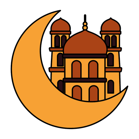 islamic temple religious traditional on white background vector illustration