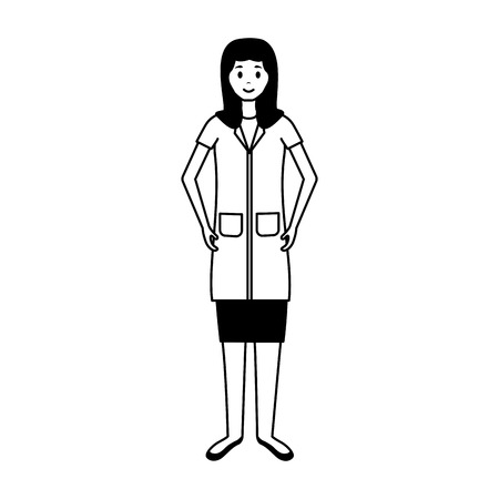 medical woman professional staff with uniform vector illustration  イラスト・ベクター素材