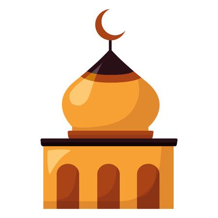 temple dome architecture culture on white background vector illustration Illustration