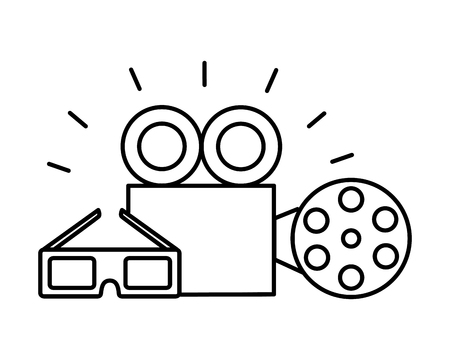 film set objects icon vector illustration design Foto de archivo - 124281450