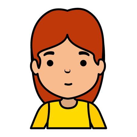 cute little girl character vector illustration design Banco de Imagens - 124339252