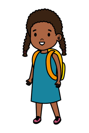 little african girl kid character vector illustration design Archivio Fotografico - 124340425